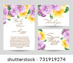 invitation with floral... | Shutterstock .eps vector #731919274