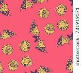 halloween seamless pattern.... | Shutterstock .eps vector #731919571