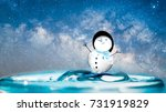 merry christmas and happy new... | Shutterstock . vector #731919829