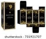 packaging design vector  black... | Shutterstock .eps vector #731921707