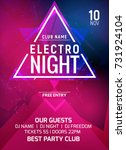 electro party music night... | Shutterstock .eps vector #731924104