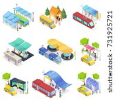 isometric 3d set city public... | Shutterstock .eps vector #731925721