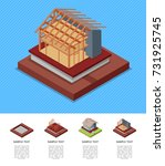 construction stages of... | Shutterstock .eps vector #731925745