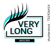very long eyelashes. beauty... | Shutterstock .eps vector #731926414
