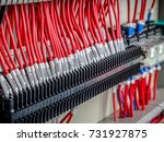 wiring   control panel with... | Shutterstock . vector #731927875