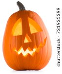 Stock photo halloween pumpkin isolated on white background 731935399