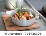 dish of onions