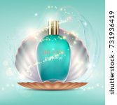 Glass Bottle With A Perfume An...