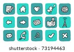 doodle icon set   website | Shutterstock .eps vector #73194463