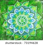 abstract green painted picture... | Shutterstock . vector #73194628