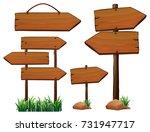 different design of wooden... | Shutterstock .eps vector #731947717