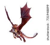 3d cg rendering of a dragon | Shutterstock . vector #731948899