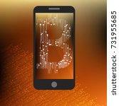 bitcoin mobile lockscreen. high ... | Shutterstock .eps vector #731955685
