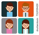 set of people business avatar... | Shutterstock .eps vector #731959459