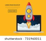 rocket start up concept design... | Shutterstock .eps vector #731960011