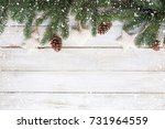 christmas background   fir... | Shutterstock . vector #731964559