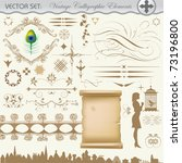 vector design set. decoration... | Shutterstock .eps vector #73196800