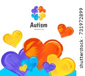 autism awareness day.... | Shutterstock .eps vector #731972899