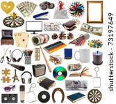 collection of objects isolated on white background