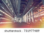 industrial zone  steel... | Shutterstock . vector #731977489