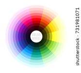 color wheel. vector illustration | Shutterstock .eps vector #731981071
