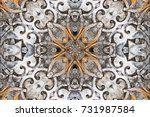 gray with brown and white... | Shutterstock . vector #731987584