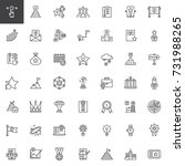 business marketing line icons... | Shutterstock .eps vector #731988265