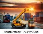 industrial container cargo... | Shutterstock . vector #731993005