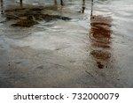 wet cement floor | Shutterstock . vector #732000079