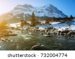 beautiful scenic landscape in... | Shutterstock . vector #732004774