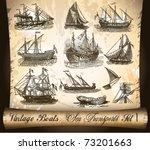 Vintage Transport  Ship Boats...