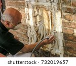 Restorer At Work In The Yard Of ...