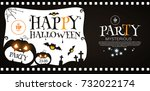 happy halloween poster template.... | Shutterstock .eps vector #732022174