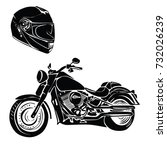 motorbike with helmet vector | Shutterstock .eps vector #732026239