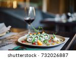 sushi set | Shutterstock . vector #732026887