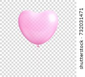 heart shaped balloon... | Shutterstock .eps vector #732031471
