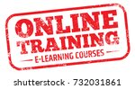 online training stamp   Shutterstock .eps vector #732031861