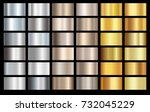 silver  bronze and gold foil... | Shutterstock .eps vector #732045229