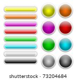 web glossy buttons | Shutterstock . vector #73204684