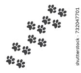 paw print on a white background....   Shutterstock .eps vector #732047701
