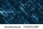 digital binary code matrix... | Shutterstock . vector #732051589