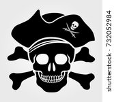 jolly roger icon isolated on... | Shutterstock .eps vector #732052984