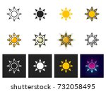 sun icon vector isolated | Shutterstock .eps vector #732058495