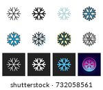 snowflake icon vector isolated   Shutterstock .eps vector #732058561