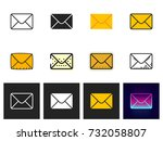 mail icon vector isolated | Shutterstock .eps vector #732058807