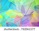 many transparent silhouettes of ... | Shutterstock . vector #732061177