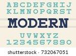 serif monospaced font modern... | Shutterstock .eps vector #732067051