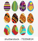 vector eggs | Shutterstock .eps vector #73206814