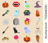 vector colored doodle style... | Shutterstock .eps vector #732068281