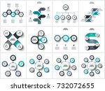vector abstract elements for... | Shutterstock .eps vector #732072655